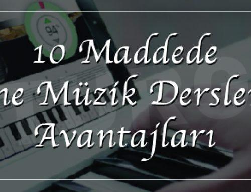 10 Maddede Online Müzik Derslerinin Avantajları