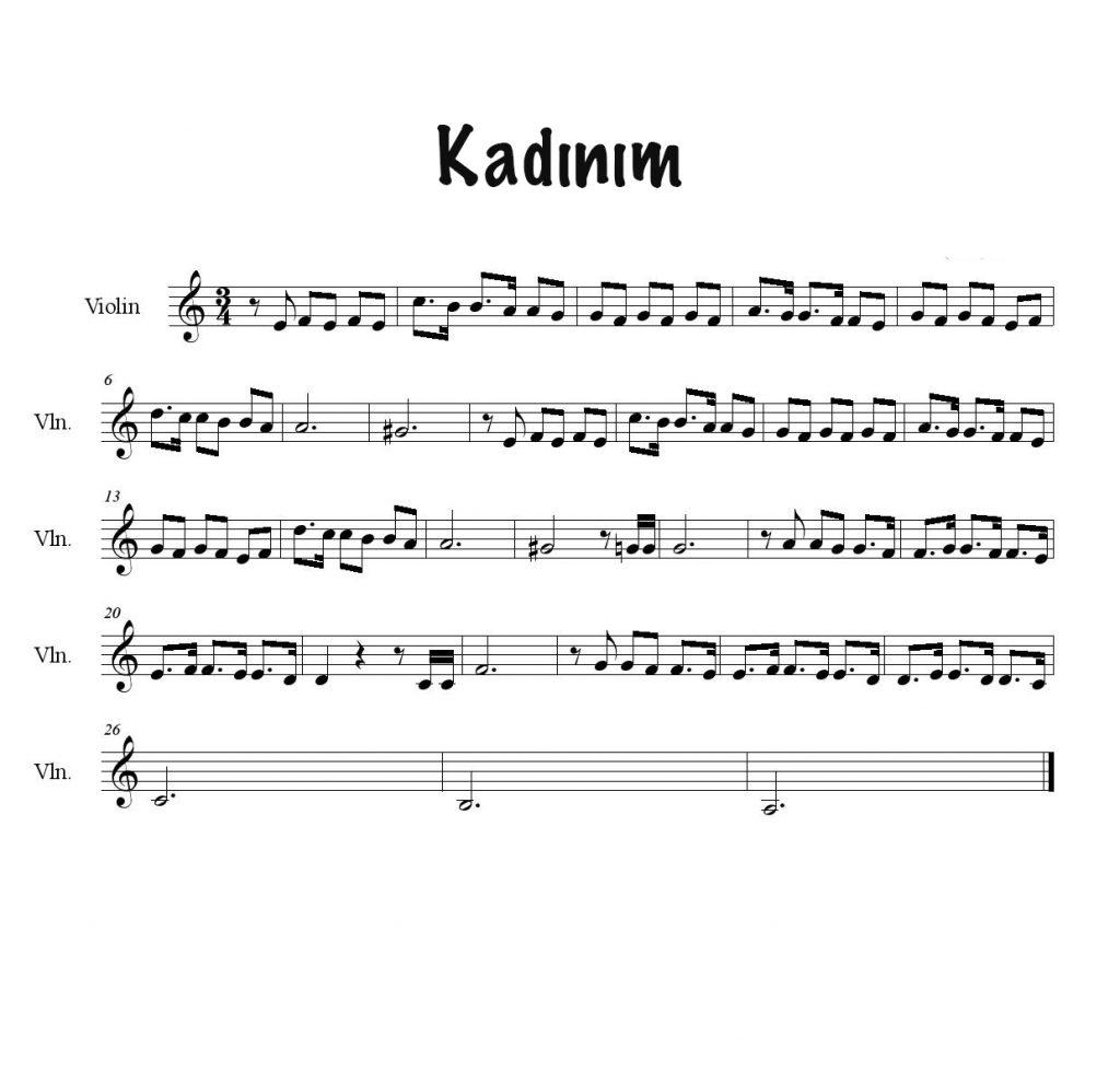 Keman İle Çalınabilecek En Kolay Şarkılar Ve Notaları