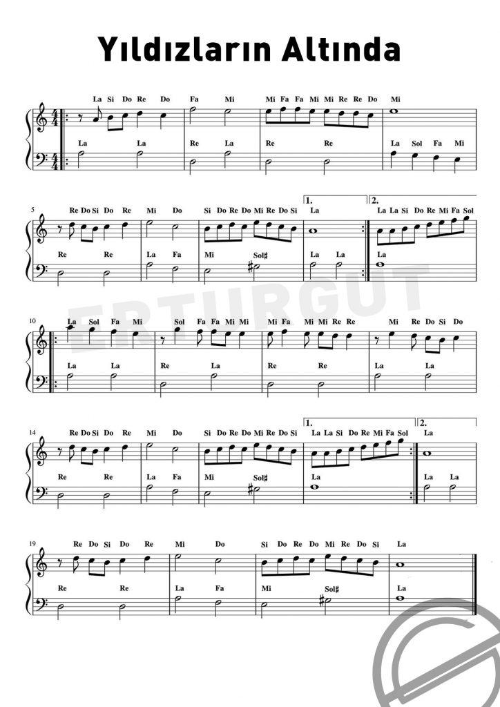 Çocuklar İçin Piyano İle Çalınabilecek Şarkılar Ve Notaları