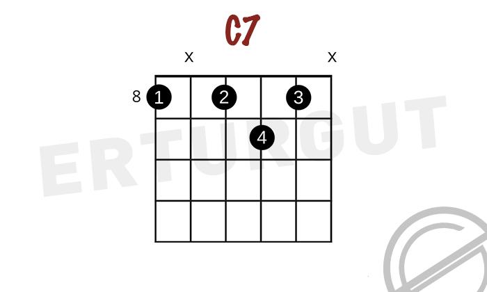 Gitarda C7 - Do Dominant 7'li Akoru