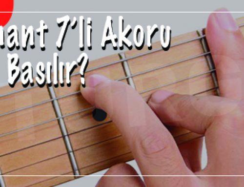 Gitarda F7 – Fa Dominant 7'li Akoru