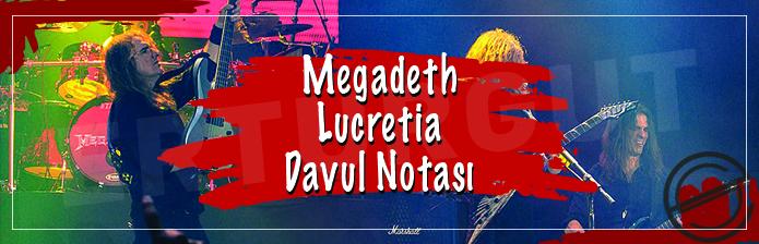 Megadeth - Lucretia Davul Notası