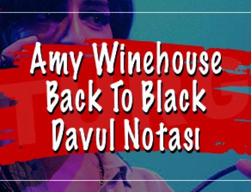 Amy Winehouse – Back To Black Davul Notası